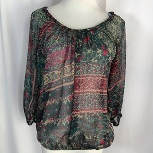 Lucky Brand sized XS Sheer Blouse